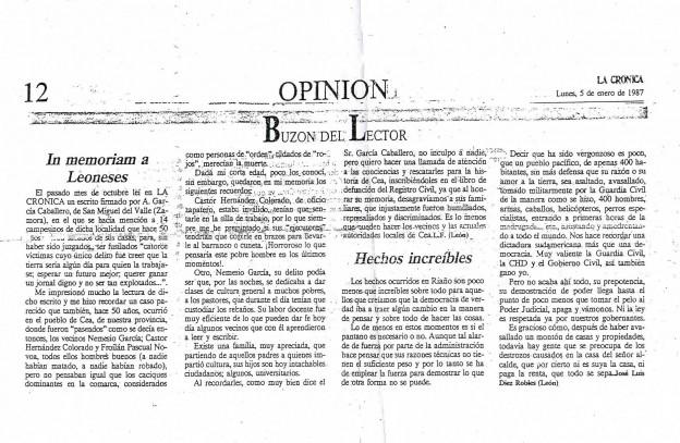 Recorte de Prensa 1987
