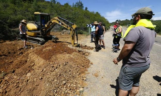 Fosa comun de paseados de la guerra en la zona de Casasola /