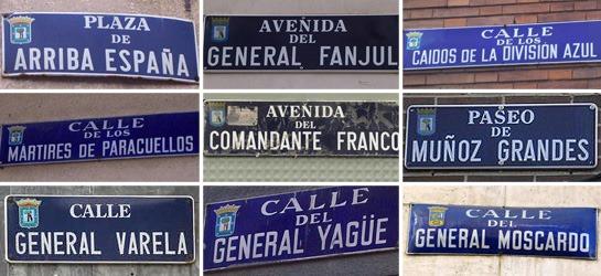 callejero franquista de Madrid[3]