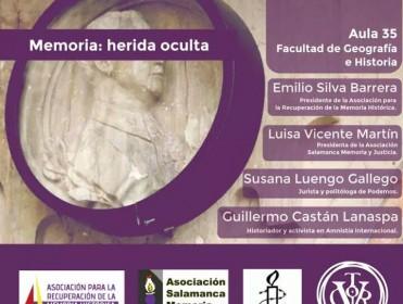 "Charla: ""Memoria: herida oculta"" en la Universidad de Salamanca"