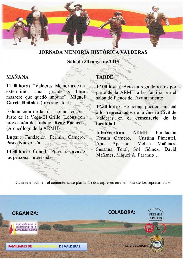 CARTEL DE VALDERAS acto 30 de mayo