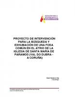 Proyecto de Intervención de Paramos – Val do Dubra