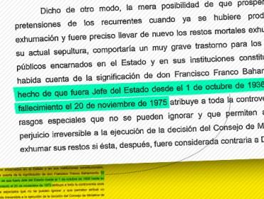 Crece la presión para que el Supremo rectifique y cambie la frase que legitima el golpe de Franco