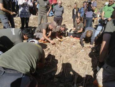 """Otros 16 cuerpos exhumados en la tercera mayor fosa de Navarra: """"Me enseñaron a no odiar, pero no olvido"""""""
